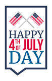 4th July Day Royalty Free Stock Photography