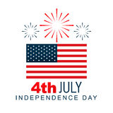 4th of july design Royalty Free Stock Image