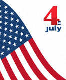 4th of july design card. Independence Day decorative background with USA flag Royalty Free Stock Photography