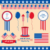 4th of july design element. The 4th of july design element Royalty Free Stock Photography