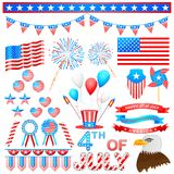 4th of July Design Element. Easy to edit vector illustration of 4th of July design element Royalty Free Stock Images