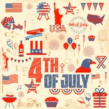 4th of July design element Royalty Free Stock Photography