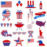 4th of July design element. Illustration of design element for 4th of July Royalty Free Stock Photo