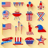4th of July design element. Illustration of design element for 4th of July Royalty Free Stock Photography
