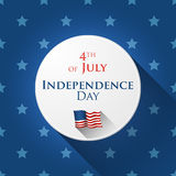 4th of July design. 4th of July greetin card with star background in flat design Stock Images