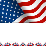 4th of July design. 4th of July greetin card with star background in flat design Stock Photography