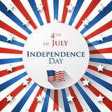 4th of July design Stock Images