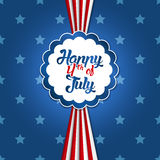 4th of July design. 4th of July greetin card with star background in flat design Stock Photo