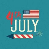 4th of July design poster Stock Images