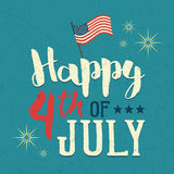 4th of July design poster Royalty Free Stock Photography
