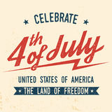 4th of july design in retro style. Stock Image