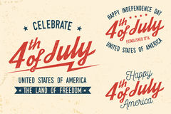 4th of july design in retro style. Royalty Free Stock Images