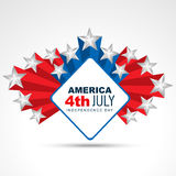 4th of july design Stock Image