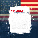 4th of july design. Vector 4th of july background with space for your text Royalty Free Stock Images