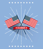 4th of july emblem image Royalty Free Stock Images