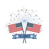 4th of july emblem image. Vector illustration design royalty free illustration