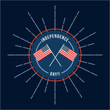 4th of july emblem image Royalty Free Stock Image
