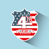 4th of july emblem image. Vector illustration design Stock Photos