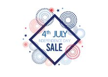 4th of July Exclusive Offers Sale, Sale Poster, Sale Banner, Sale Flyer, Extra Discount Offer, Online Sale. Vector. Illustrationn stock illustration