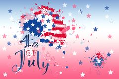 4th of July, festive background with star shaped confetti. Celebrate 4th of July, Independence day Stock Images
