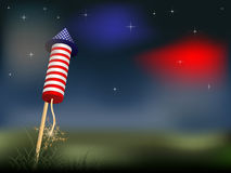 4th of July. Firework -  illustration Stock Image