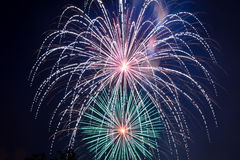 4th of July - Fireworks Display. Fireworks display on the American Holiday, 4th of July Stock Photo