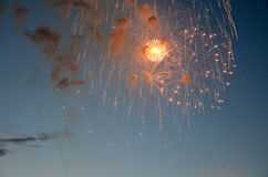 4th July fireworks. stock images