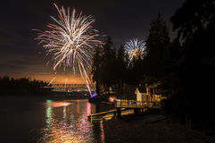 4th of July Fireworks Display Stock Image