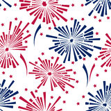 4th of july fireworks seamless pattern. 4th of july fireworks vector  seamless pattern Stock Photos