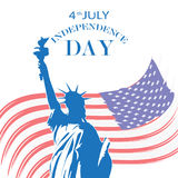 4_th_July_flag Stock Images