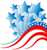 4th of July flag background Royalty Free Stock Photos