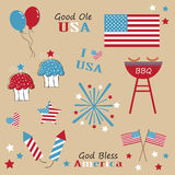 4th of July. Flag patriotic items Stock Photography