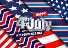 4th of July. Fourth of July Banner. Happy Independence Day Vector Design. 4th of July Vector Card Stock Image