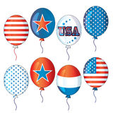 4th of July fourth of July party balloons collection falling balloons vector filey eps ai jpg red white blue balloons air flying. Buy `Party balloons collections royalty free illustration