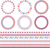 4th of July frames and borders. Red white blue Stock Image