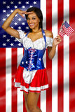 4th of July Girls stock images