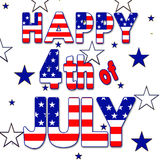4th of July Graphic - Stars and Stripes Stock Image