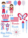 4th of July Graphics Stock Photography