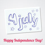 4th of  july greating card. Vector 4th of july background Stock Images