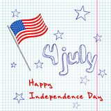 4th of  july greating card Royalty Free Stock Photos