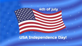 4th of July greeting stock video footage