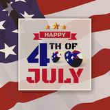 4th of July greeting card background. Happy 4th of July greeting card background. Vector illustration Royalty Free Stock Photo
