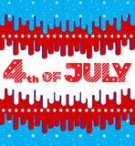 4th of July. Greeting card, banner, flyer in bright colors. Holiday Independence Day July 4th. With elements of a flat design. 4th of July. Greeting card, banner Stock Photos