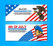 4th of July Greetings Banner. Vector design of 4th of July greetings banner Stock Photos