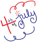4th of July. Handwritten lettering vector illustration