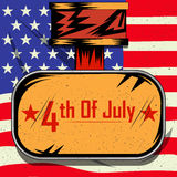 4th of July Happy Independence Day America background Royalty Free Stock Image