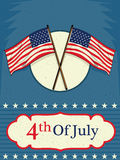 4th of July Happy Independence Day America background. In vector Royalty Free Stock Photo