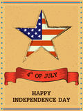4th of July Happy Independence Day America background. In vector Royalty Free Stock Photography