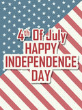 4th of July Happy Independence Day America background. In vector Royalty Free Stock Photos