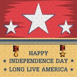 4th of July Happy Independence Day America background. In vector Royalty Free Stock Images
